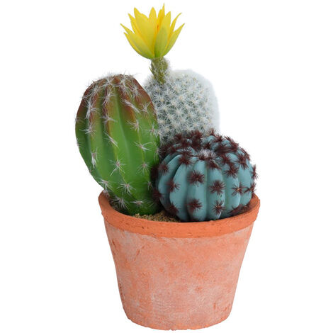 "main image of ""Cactus artificiales en maceta terracota 8x20cm"""