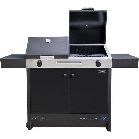"""main image of """"CADAC BRAAIMAXX BLACK EU 30mbar - grill, bbq di grandi dimensioni a gas per giardino, camping, campeggio, terrazzo, balcone"""""""