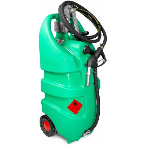 Caddy ravitailleur essence mobile 110L en PE avec pompe + pistolet MW-Tools TB110M