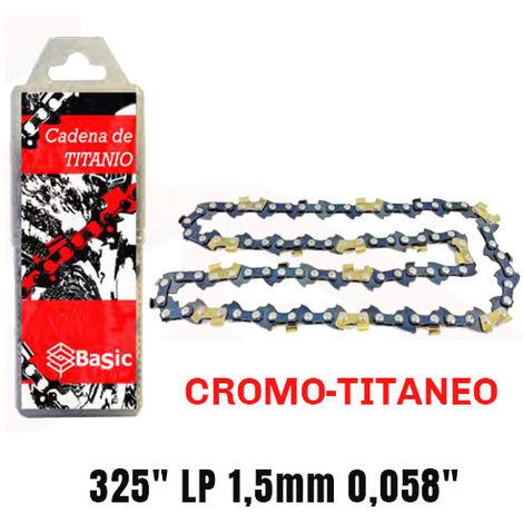Cadena cromo titanio Basic 325 LP 1,5mm 0,058 72 Eslabones