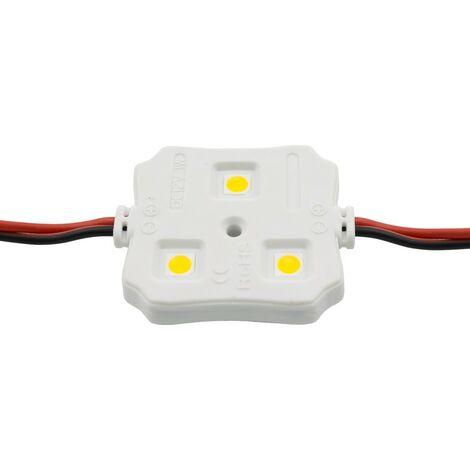 Cadena de 20 Módulos Cuadrados de 3 LEDs SMD5050 12V 0.72W