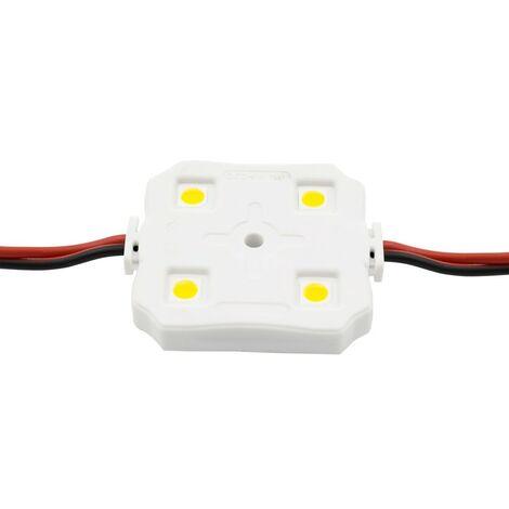 Cadena de 20 Módulos Cuadrados de 4 LEDs SMD5050 12V 1W