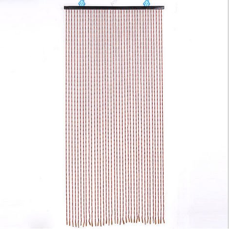 Cadena de cuentas de madera cortina dormitorio porche puerta ventana mosquitera divisor decoración del hogar 90x195 cm