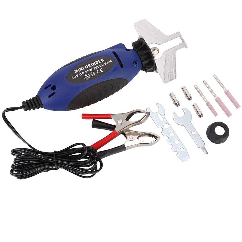 Cadena de la motosierra afilador motosierra presentacion Grinder Kit 12V electrico Sacapuntas 5/32 pulgadas 3 / 16en 7/32 pulgadas
