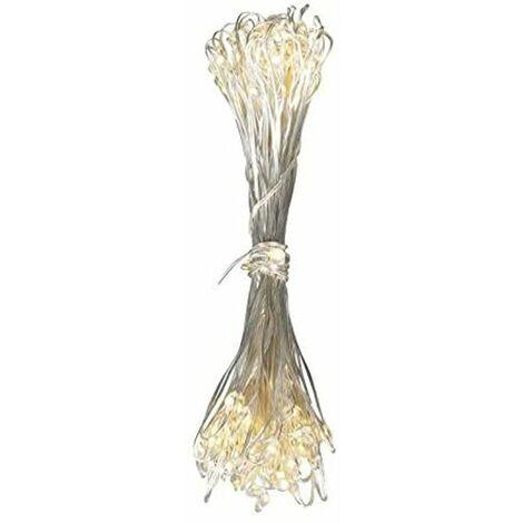 Cadena de luces LED 100x Decoración navideña iluminación cobre X-MAS Adviento lámpara plata Globo 29950-100T
