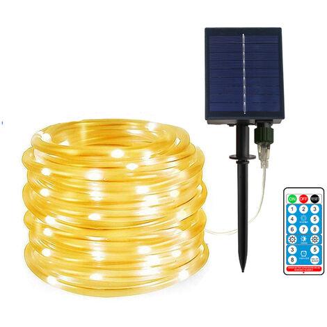 Cadena de luces LED con energia solar de 40 pies / 100 leds