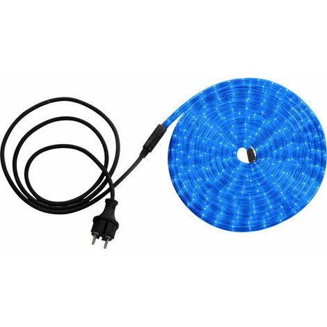 cadena ligera decorativo de plástico transparente tubo 24 LEDs azules / m Globo 38963