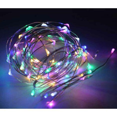 """Cadena luminosa guirnalda LED FAIRY LIGHT de alambre de cobre """"luz de hada"""" (10mt.)"""