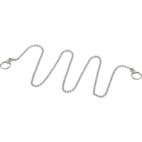 cadena perlada para tapón goma - 2 anillos longitud 400 mm