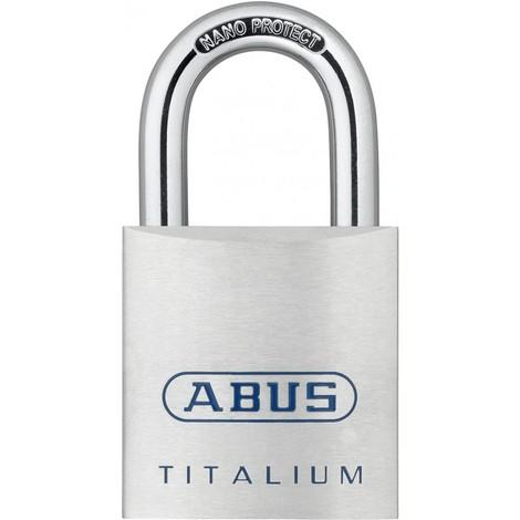 Cadenas a clé TITALIUM haute anse 80TI/40HB40