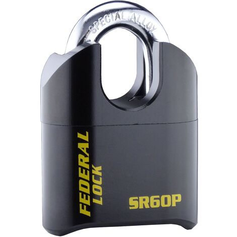 Cadenas à code et anse protégée SR60P 60mm - Federal Lock - Noir