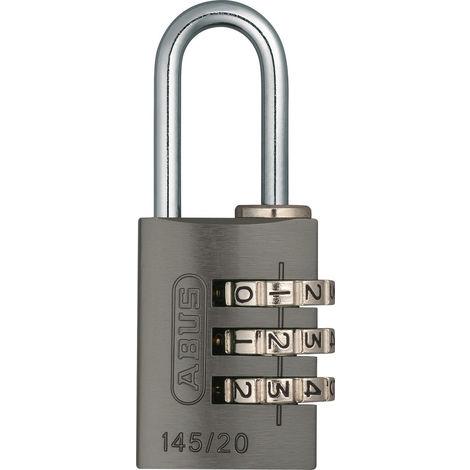 Cadenas à combinaison ABUS aluminium 145/20 Titanium B/DF - 0054915