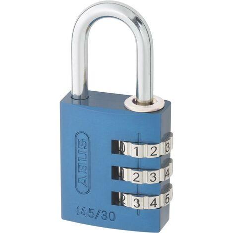 Cadenas à combinaison ABUS aluminium 145/30 Bleu Lock-Tag - 46614