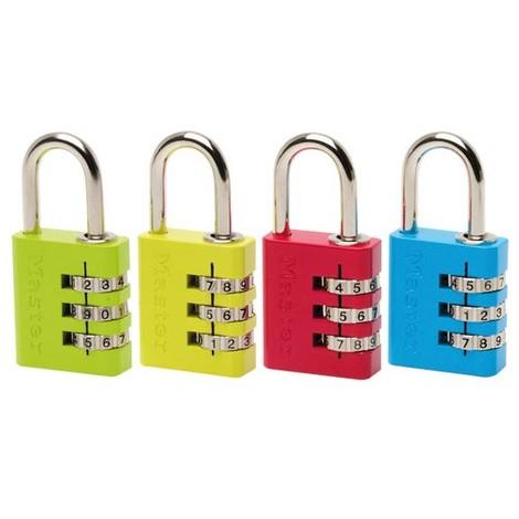 Cadenas à combinaison couleur Master Lock 7630EURD
