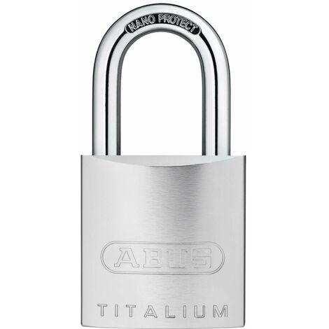 Cadenas ABUS Titalium 86/55 pour demi-cylindre - Alu