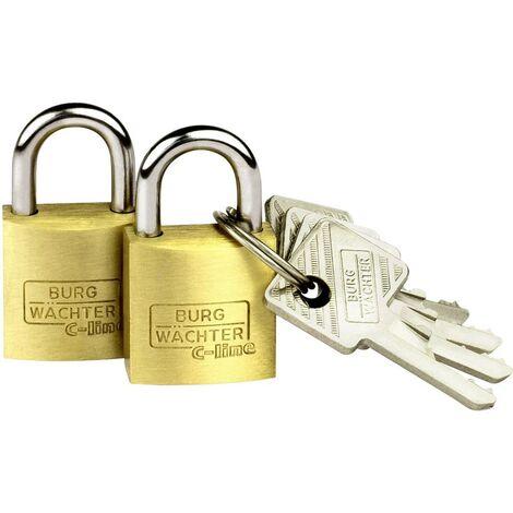 Cadenas avec serrure à clé Burg Wächter 2er Set Duo 222 20 SB laiton 2 pc(s)
