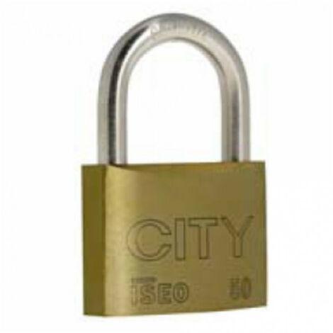 Cadenas City 50 anse acier cémenté, 2 clés ISÉO