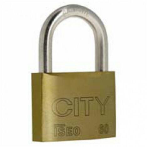 Cadenas City 60 anse acier cémenté, 3 clés ISÉO