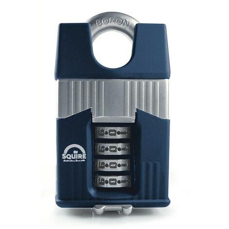 Cadenas de sécurité à code et anse protégée 65 mm SQUIRE WARRIOR COMBI 65CS