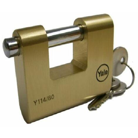 Cadenas de sécurité rectangulaire en laiton 80mm - FICHET - - Y114801181.