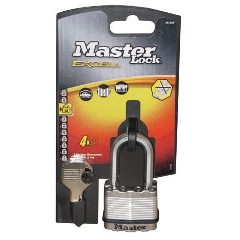 MASTER LOCK - Cadenas acier - 50 mm - anse octogonale