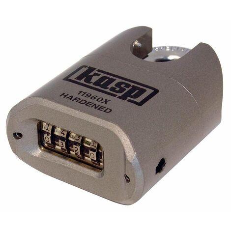 Cadenas Kasp K11960XD argent avec serrure à combinaison