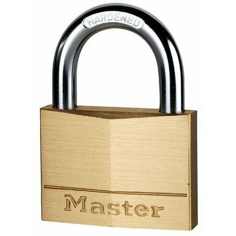 Cadenas laiton massif anse acier cémenté s'entrouvrant Masterlock