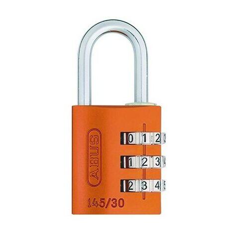 Cadenas orange - Combinaison 3 chiffres - Aluminium