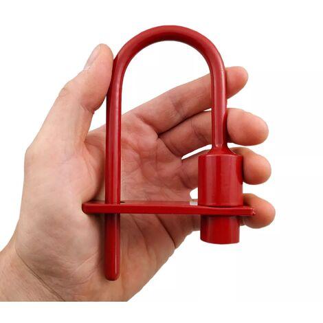 Cadenas pompier acier résistant - serrure triangle accès pompiers & EDF (9mm/11mm)