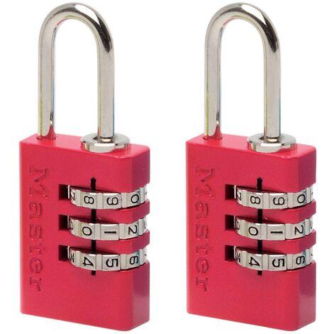 Cadenas programmable Master Lock aluminium couleur 20 mm - 2 pcs