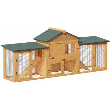 """main image of """"Cadoca Conejera exterior con 2 niveles cajón extraíble rampas techo para conejos animales pequeños"""""""