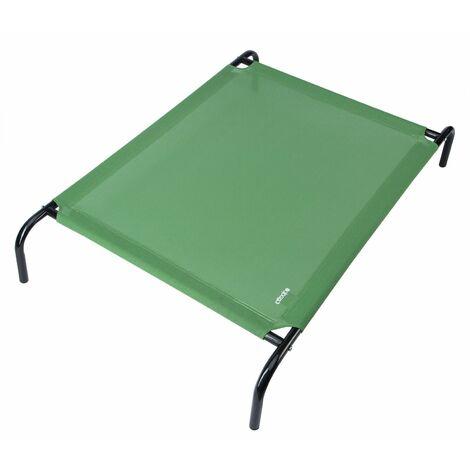 CADOCA - Lit surélevé sur pieds pour animaux domestiques max. 60kg Acier Plusieurs tailles M, L ou XL gris ou vert - chiens chats animal canapé fauteuil panier M - grün (de)