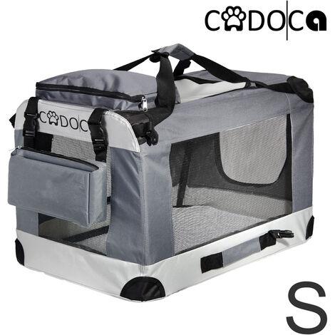 CADOCA® Pet Carrier Fabric Dog Cat Rabbit Transport Bag Cage Folding Puppy Crate