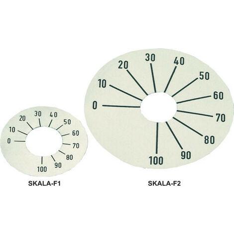 Cadran de contrôle numéroté sur une échelle de 0 à 100, diamètre 26mm Couleur de fond argent Skala-f1