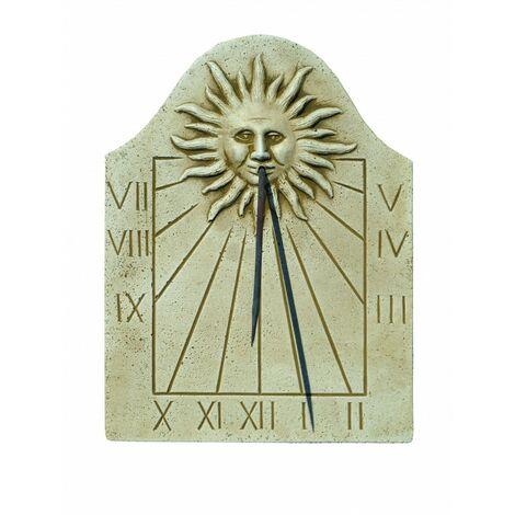 """main image of """"Cadran solaire FACE AU SOLEIL pour les extérieurs en pierre reconstituée 3X32X42cm."""""""