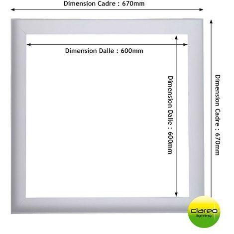 Cadre D'adaptation 675x675 Pour Dalle LED 60x60 CLAREO