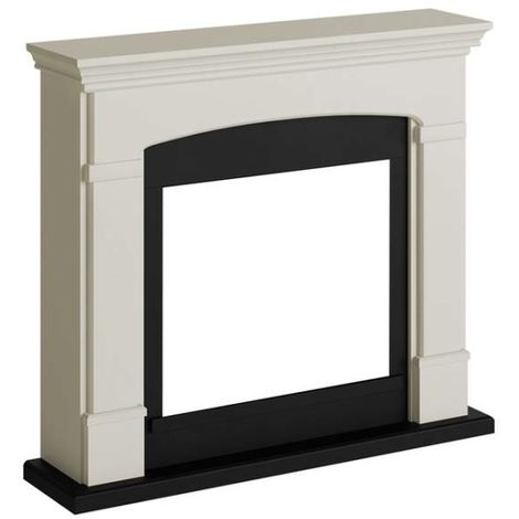 Cadre de cheminee Helmi Blanc Creme cm 107,2x95,2x24,5 Tagu FM463-CR2