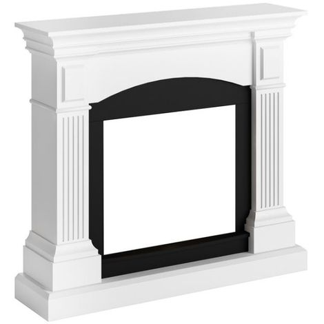 Cadre de cheminee Magna laqué Blanc cm 113,7x102,2x28,2 Tagu FM464-WH1
