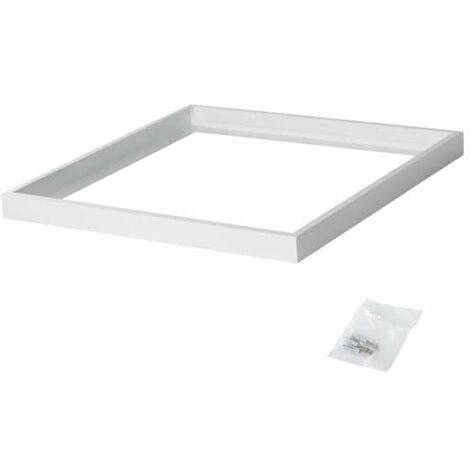 Cadre de Fixation en Saillie Carré Blanc pour Dalles LED 600x600mm