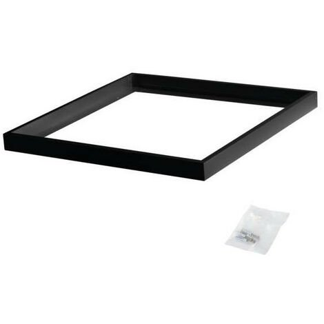 Cadre de Fixation en Saillie Carré Noir pour Dalles LED 600x600mm