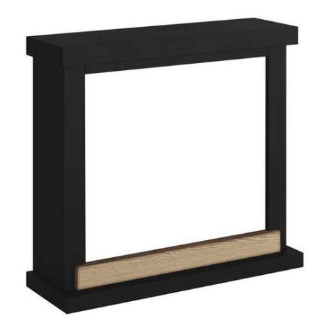 Cadre de foyer moderne Tagu Hagen Noir cm 75x67,8x24,5 Tagu FM469-BL1