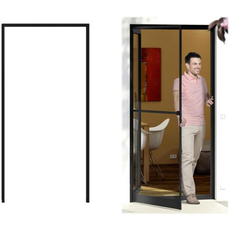Cadre de montage de protection contre les insectes pour porte 125x245 cm, anthracite