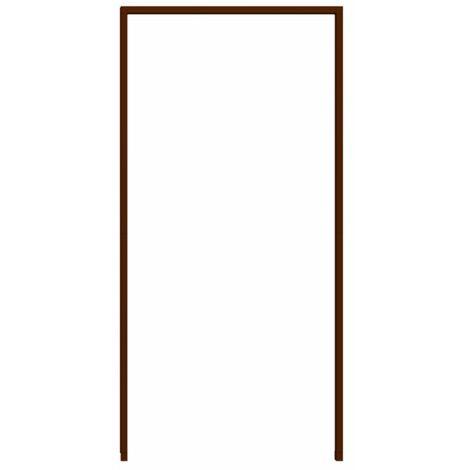 Cadre de montage de protection contre les insectes pour porte 125x245 cm, marron