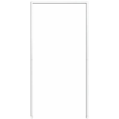 Cadre de montage de protection contre les insectes pour porte 125x245cm, blanc