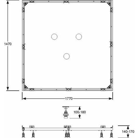 Cadre de montage Mepa SF rectangle 150 / 180 - 150.181