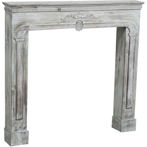 Cadre décoratif cheminée à bois design pièce miteuse décoration intérieure L104xPR17xH99 cm