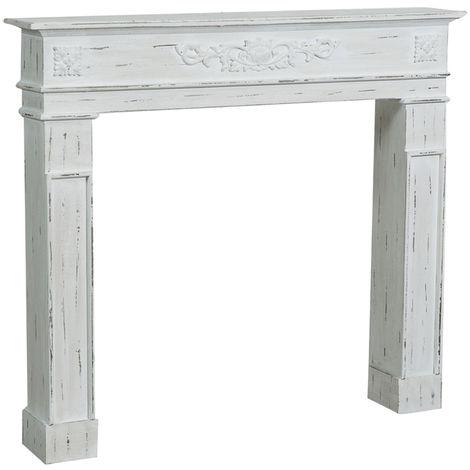 Cadre décoratif cheminée à bois design pièce miteuse décoration intérieure L115xPR17xH102 cm