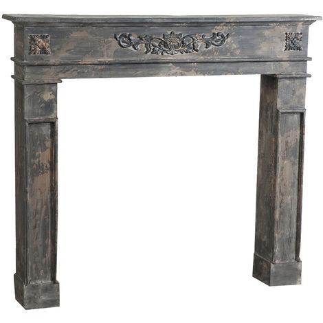 """main image of """"Cadre décoratif cheminée à bois design pièce miteuse décoration intérieure L115xPR17xH102 cm"""""""