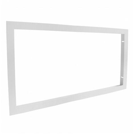 Cadre d'encastrement - Dalle LED 60x30 - Faux plafond placo BA13 - Aluminium Blanc