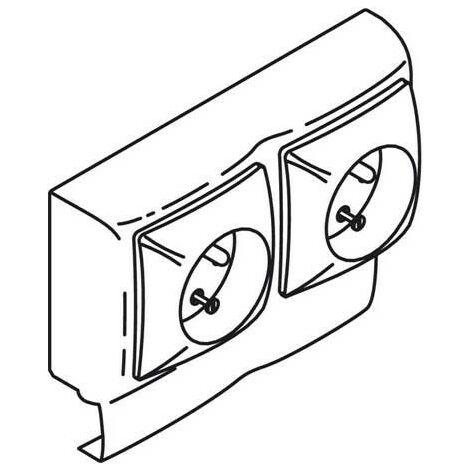 Cadre double avec mécanisme double prise 2P+T - Blanc - pour moulure Keva hauteur 20 mm - 2 Postes - 11970 - Planet Wattohm